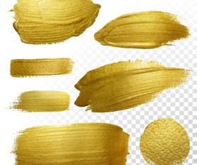 Golden blots vector illustration 04