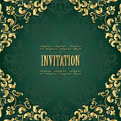 Golden frame with green invitation card vector 04 vector car golden frame with green invitation card vector 04 stopboris Gallery