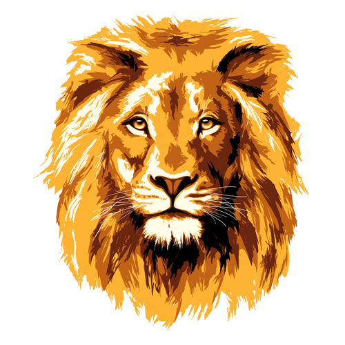 Golden lion vector