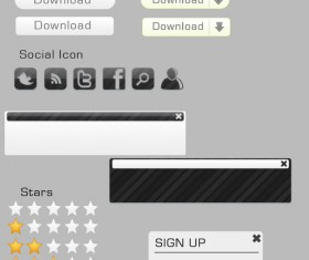 Gray Form and Web Element psd
