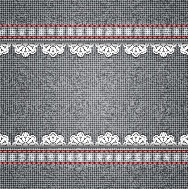 Gray denim texture background vector 04