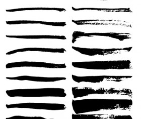 Inky lines brushes vector illustration
