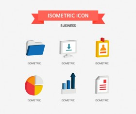 Isometric business Icons set 01
