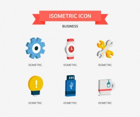 Isometric business Icons set 02