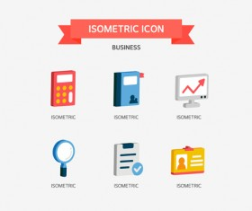 Isometric business Icons set 03