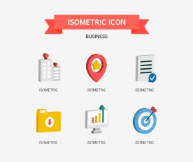 Isometric business Icons set 04