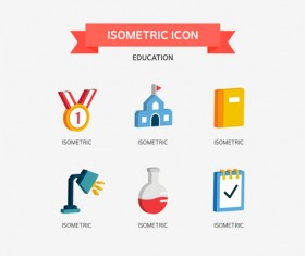 Isometric education Icons vector 01