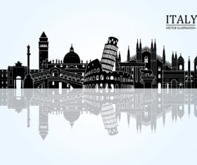 Italy travel background art vector 03