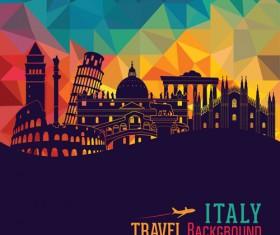 Italy travel background art vector 04