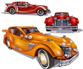 Luxury retro car vector 01