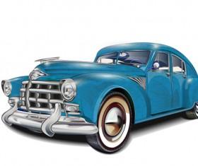 Luxury retro car vector 02