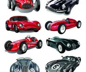 Luxury retro car vector 03