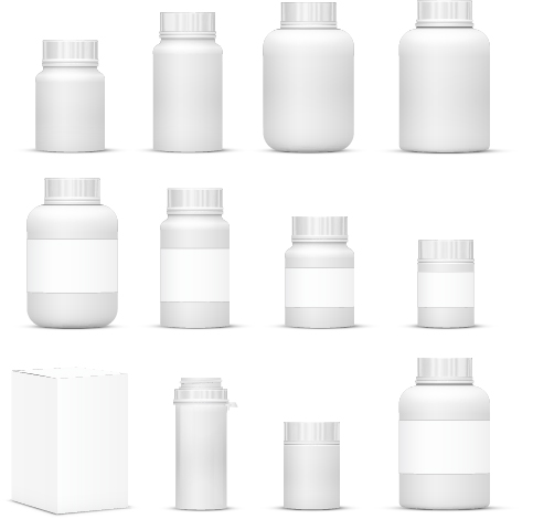 Medicine bottle packaging vector material