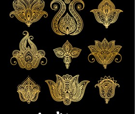 Mehndi styles henna tattoo elements vector 01 - Vector Flower free ...