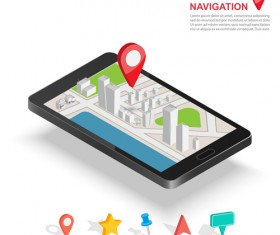 Mobile with navigation vector template 01
