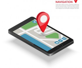 Mobile with navigation vector template 02