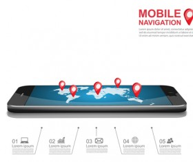 Mobile with navigation vector template 05