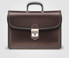 Modern leather briefcase set vector 03