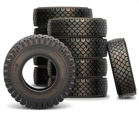 Old Truck Tire Set vector material