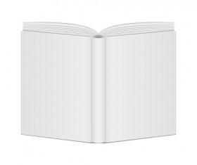 Open book blank design vector 04