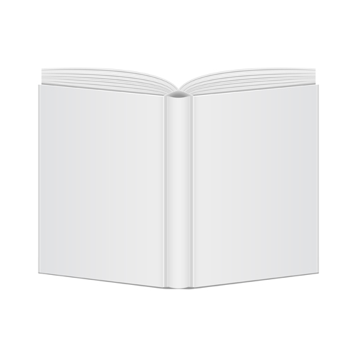 Book Cover Design Blank : Open book blank design vector free download