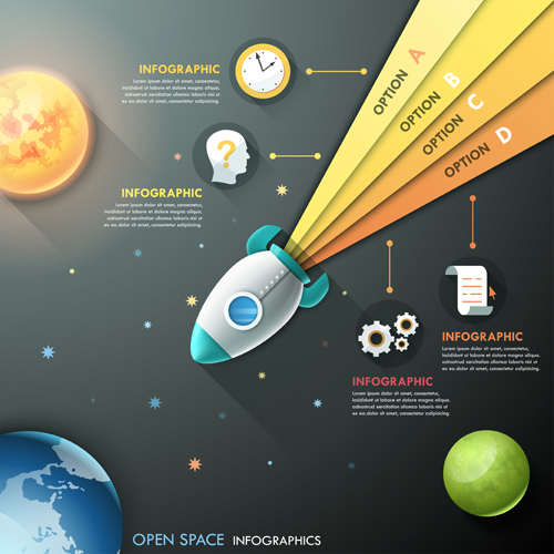 Open space infographic vector template 03