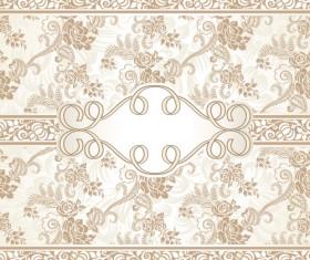Ornate beige floral vector background