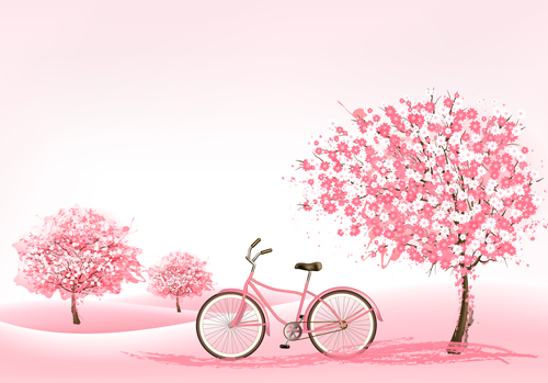 pink spring trees wallpaper - photo #34