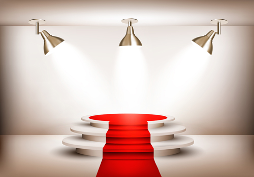 podium with red carpet and spotlight vectors 10 free download