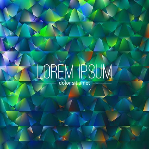 Polygon debris modern background vector 05
