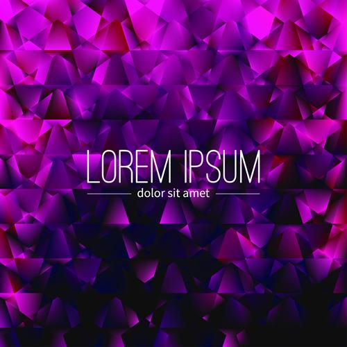 Polygon debris modern background vector 06