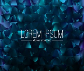 Polygon debris modern background vector 09