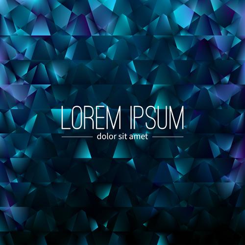 Polygon debris modern background vector 09