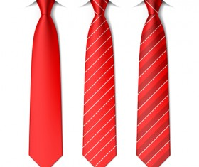 Red ties vector material