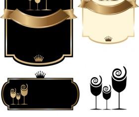Retro wine lables design 01