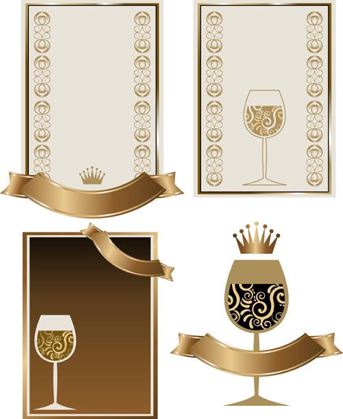 Retro wine lables design 02