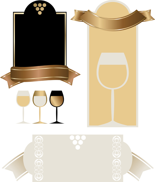 Retro wine lables design 03