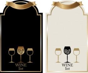 Retro wine lables design 04
