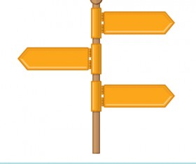 Road sign vector illustration