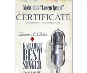 Rock night karaoke party poster vector 06
