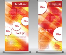 Scrolls business banners vector set 01