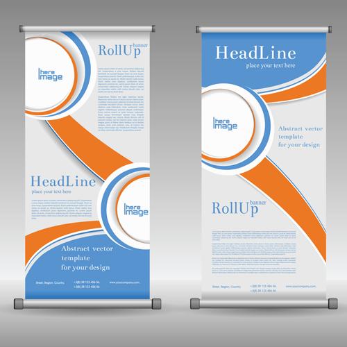Scrolls Business Banners Vector Set 02
