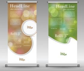 Scrolls business banners vector set 03