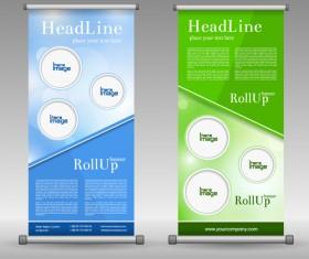 Scrolls business banners vector set 04