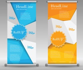 Scrolls business banners vector set 06