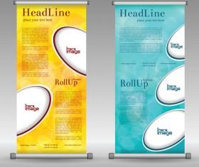Scrolls business banners vector set 07