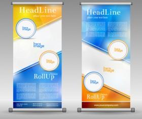 Scrolls business banners vector set 08
