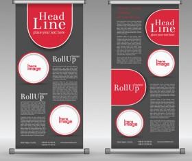 Scrolls business banners vector set 09