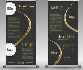 Scrolls business banners vector set 10