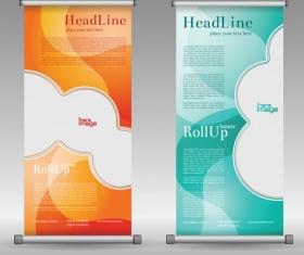 Scrolls business banners vector set 11